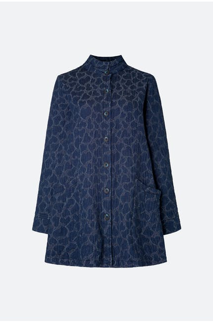 Photo of Heart Jacquard Denim Jacket