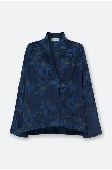 Japanese Flower Denim Jacket