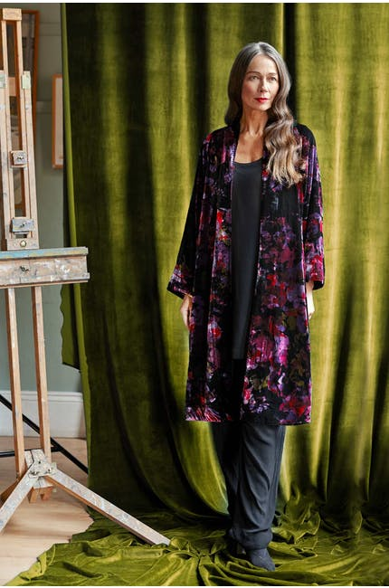 Photo of Bohemian Floral Velvet Jacket
