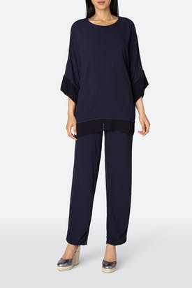 Photo of Soft Crepe Slim-Leg Trouser