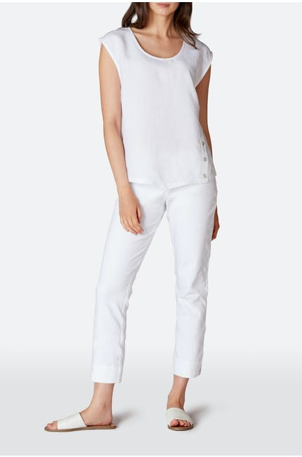 Photo of Stretch Cotton Twill Crop Trouser