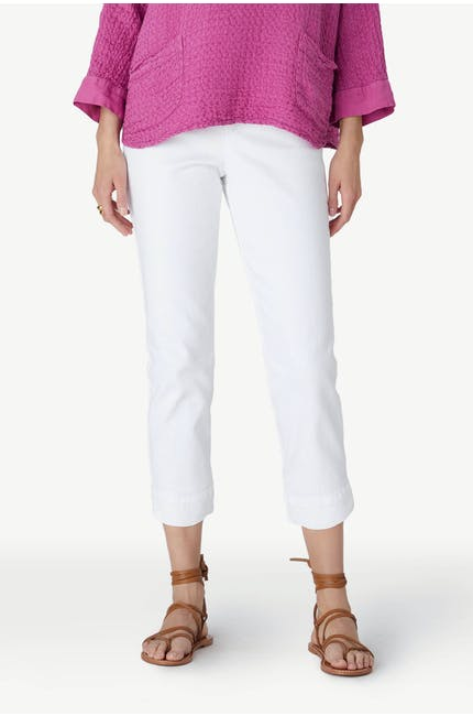 Stretch Cotton Crop Trouser