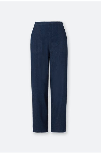 Stretch Denim Straight Leg Trouser