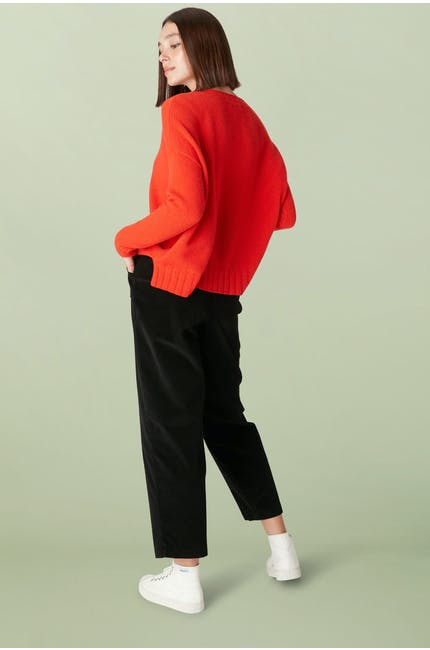 Stretch Cord Straight Trouser
