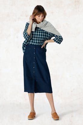 Photo of Stretch Denim Skirt