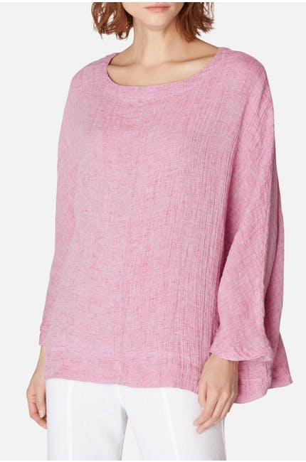 Crinkle Linen Easy Top