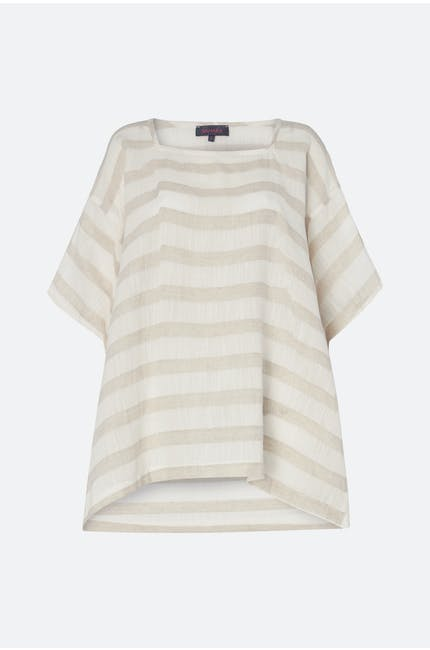 Natural Stripe Linen Top