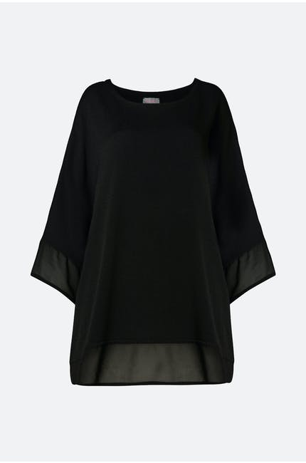 Photo of Autumn Crepe Boxy Top
