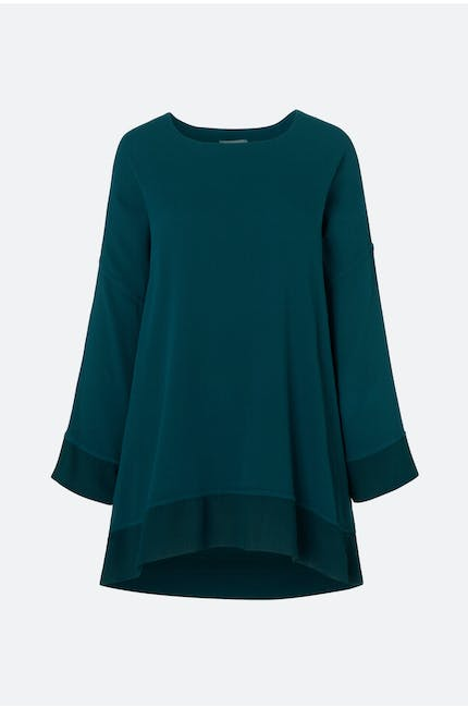 Autumn Crepe Boxy Top