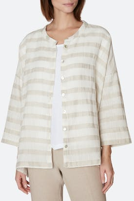 Photo of Natural Stripe Linen Shirt