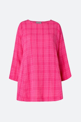 Photo of Voile Check Seam Detail Top