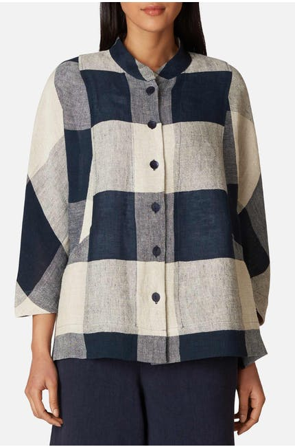 Photo of Stripe & Check Linen Shirt
