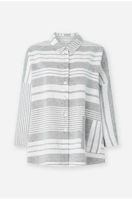 Photo of Mix Stripe Linen Shirt