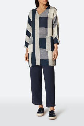 Photo of Stripe & Check Linen Tunic