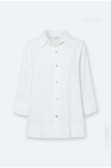 Diamond Voile Boxy Shirt