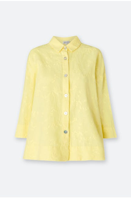 Floral Embroidery Boxy Shirt