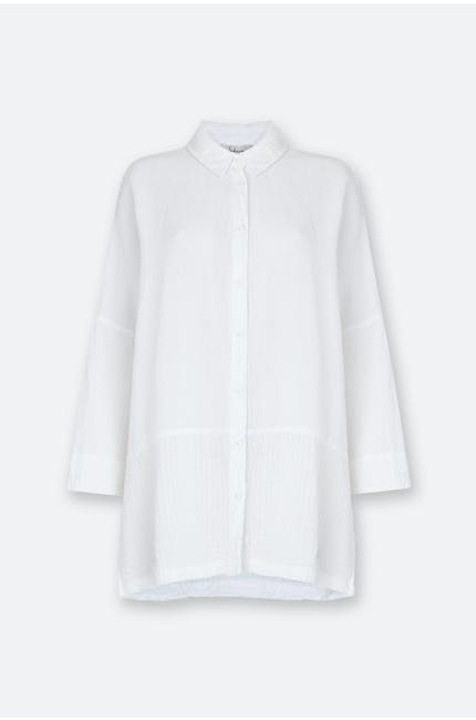 Photo of Seersucker Linen Easy Shirt