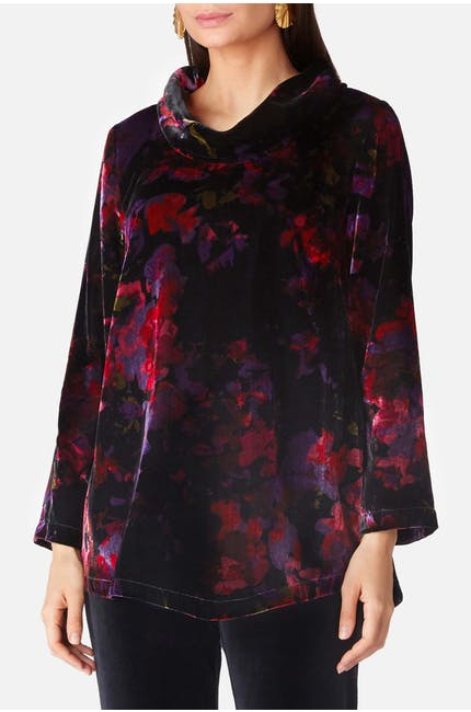Photo of Bohemian Floral Velvet Tunic