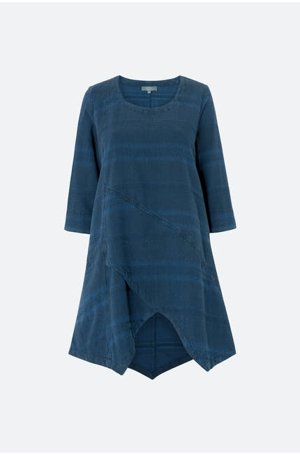 Denim Textured Stripe Tunic