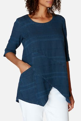 Photo of Denim Textured Stripe Tunic