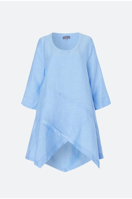Photo of Asymmetric Shimmer Linen Tunic
