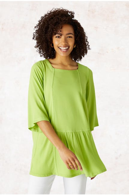 Photo of Crepe Ruched Hem Top