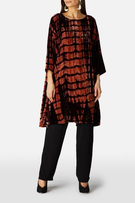 Photo of Tie Dye Velvet Tunic