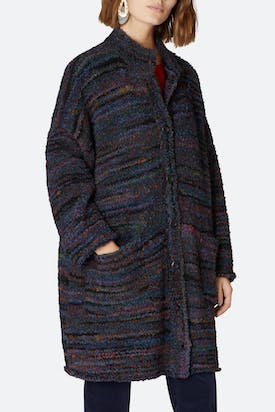 Photo of Space Dyed Boucle Knit Cardi