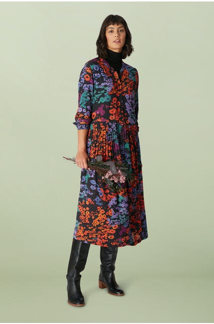 Photo of Winter Floral Crepe Dress