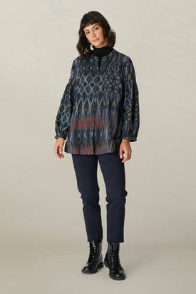 Photo of Patched Ikat Print Shirt