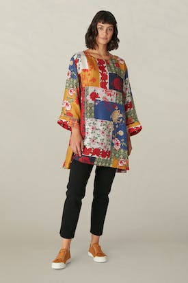 Photo of Patched Baroque Silk Tunic