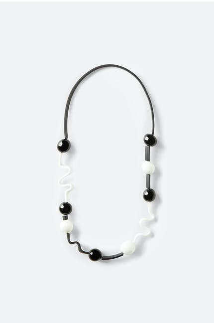 Photo of Squiggle And Glass Necklace