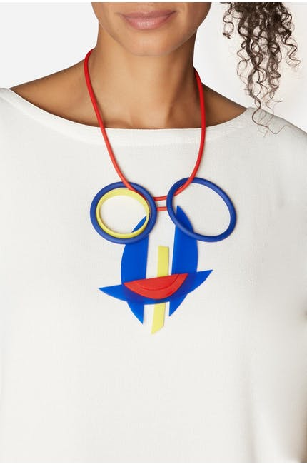 Colourful Visage Necklace
