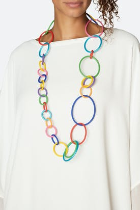 Photo of Rainbow Hoop Necklace
