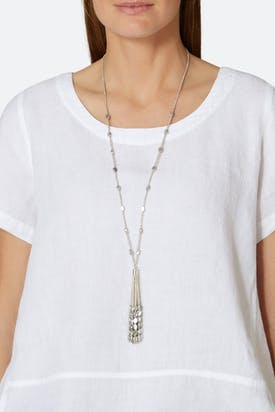 Photo of Metallic Tassel Necklace
