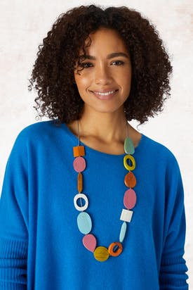 Photo of Long Mixed Shape Necklace