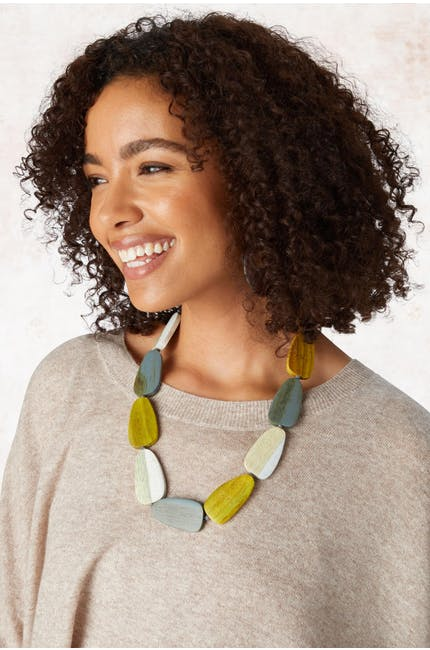 Oval Pebble Necklace