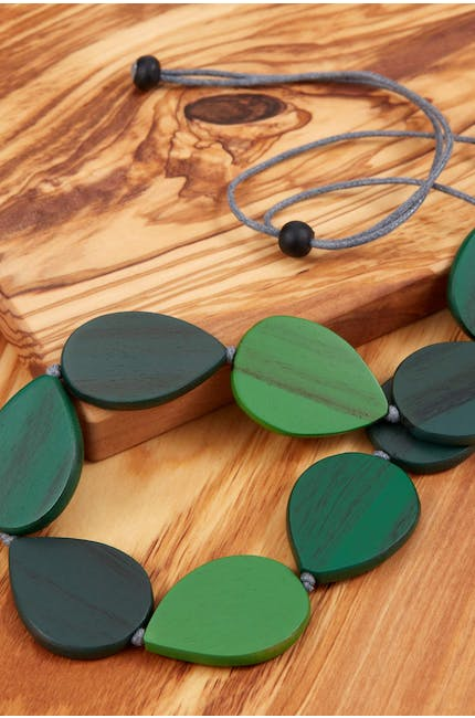 Photo of Wooden Teardrop Necklace