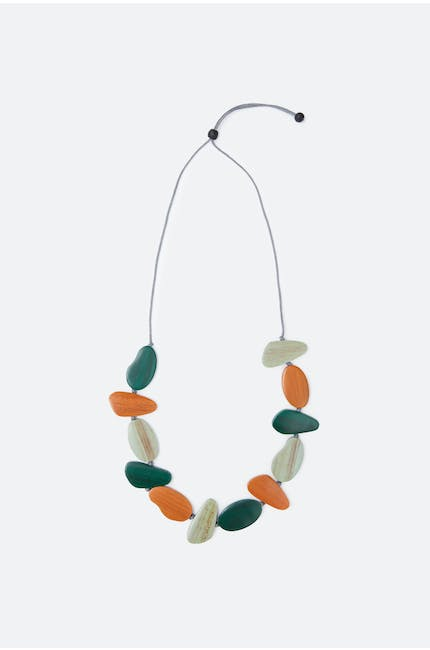 Asymmetric Pebble Necklace