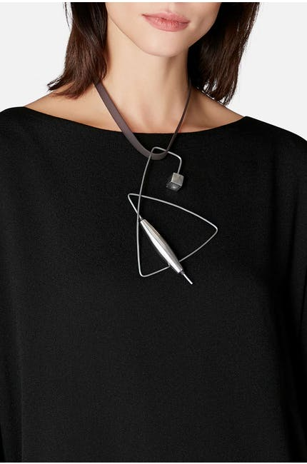 Abstract Metal Necklace