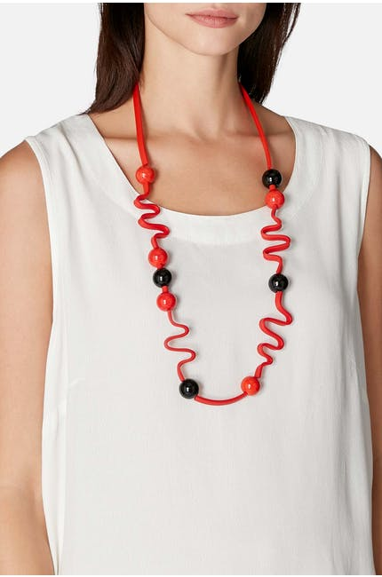 Graphic Squiggle Necklace