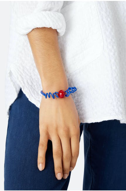 Sphere And Squiggle Bracelet