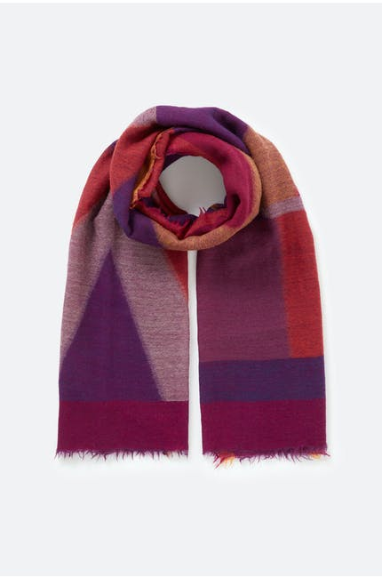 Photo of Contrasting Stripe Scarf