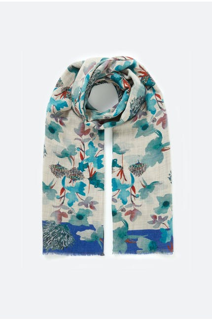 Watercolour Floral Scarf