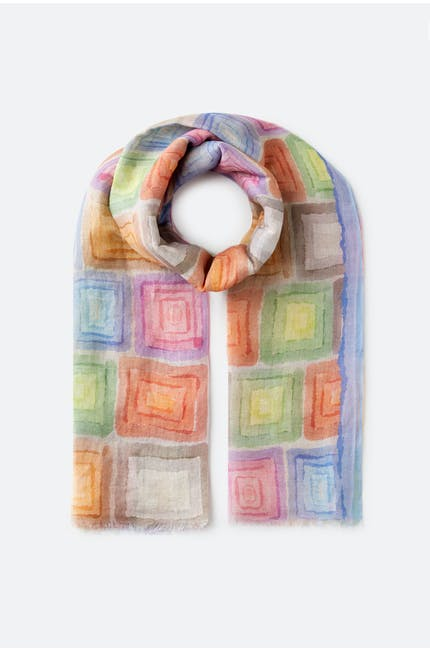 Blurred Squares Scarf