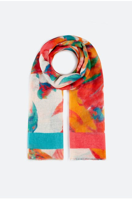 Vibrant Floral Scarf