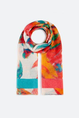 Photo of Vibrant Floral Scarf