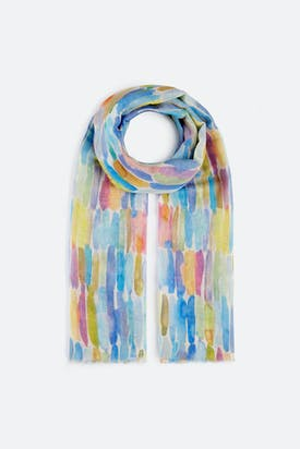 Photo of Blurred Mini Stripe Scarf