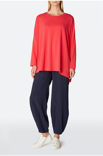 Cotton Jersey Oversized Top