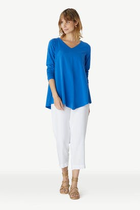 Photo of Cotton Jersey Point Hem Tunic